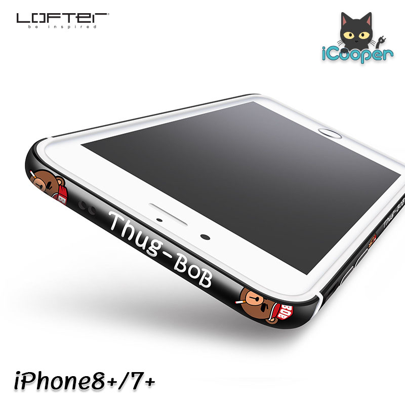 LOFTER Aluminium Bumper - Thug BOB Black (iPhone8+/7+)