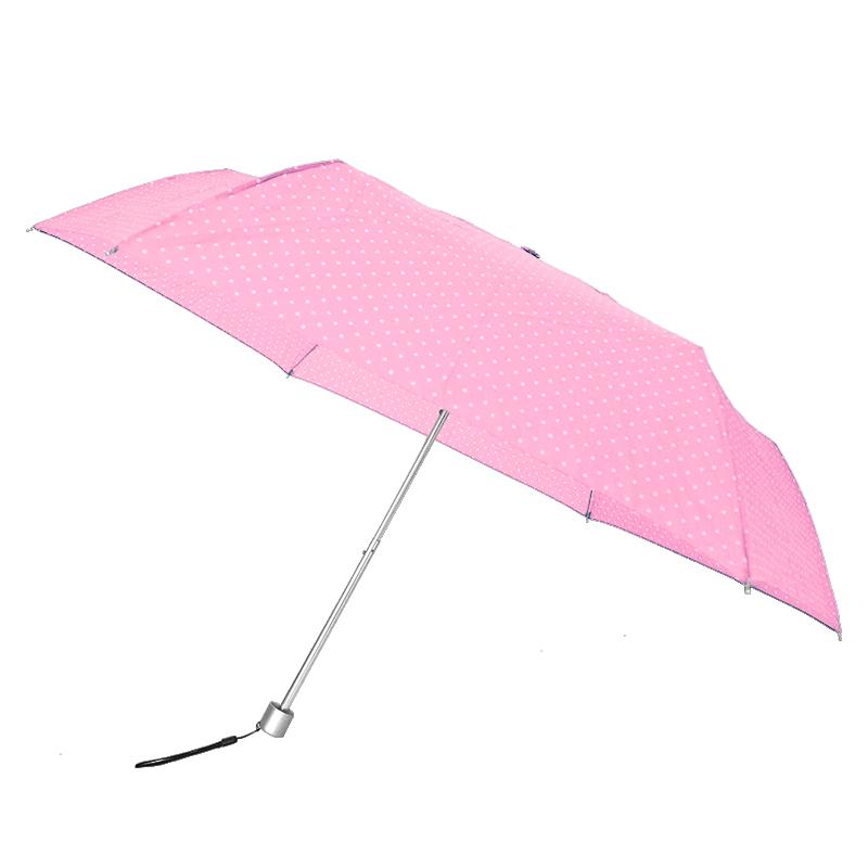 Waterfront Spot Air Folding Umbrella ร่มพับน้ำหนักเบาจุดๆ - ชมพู