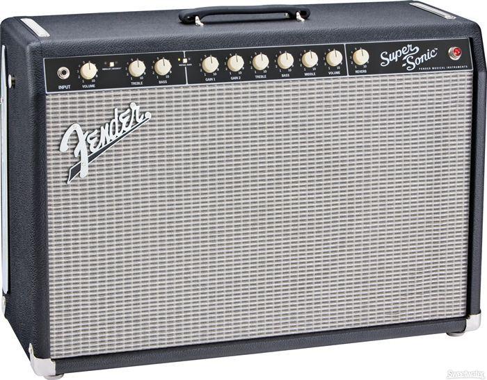 Fender Super-Sonic Black (60 Watts, 1x12 Speaker)