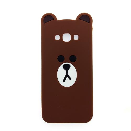 เคส A8 ซิลิโคนแท้ หมีบราวน์ (หน้า/หลัง)