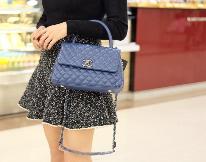 กระเป๋าสะพายแฟชั่น กระเป๋าสะพายข้างผู้หญิง Chanel COCO Handle'10 [สีดำ]