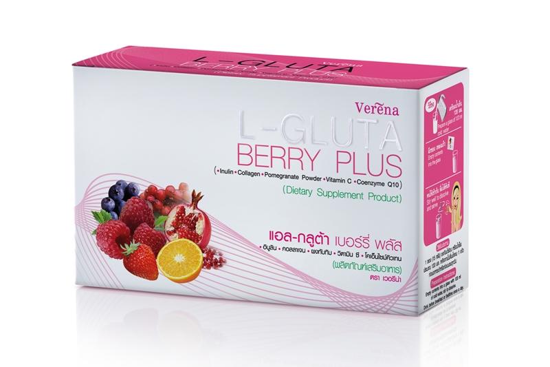 ผลิตภัณฑ์เสริมอาหาร L-gluta berry plus แอล-กลูต้า