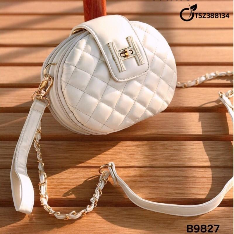 กระเป๋าสะพายแฟชั่น กระเป๋าสะพายข้างผู้หญิง ทรงหมอน stye Hermes [สีขาว ]