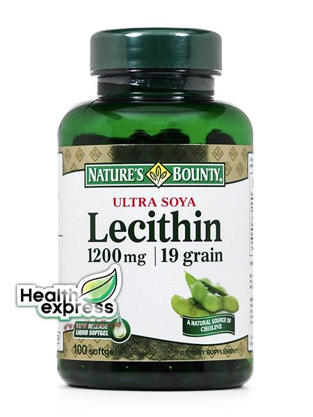 Nature's Bounty Lecithin 1,200 mg. เนเจอร์ส เบาวน์ตี้ เลซิติน บรรจุ 100 เม็ด