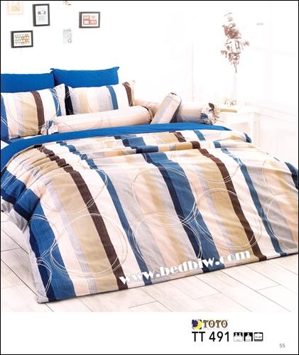 ชุดเครื่องนอน ผ้าปูที่นอนราคาถูก ลายสก๊อต TT491