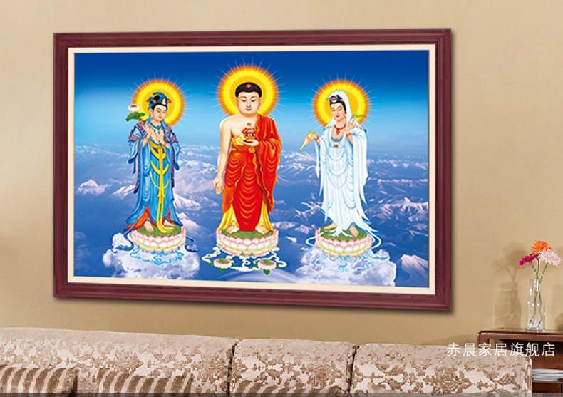 พระพุทธเจ้า ทรินิตี้ ภาพติดเพชร ครอสติชคริสตรัล โมเสก Diamond painting