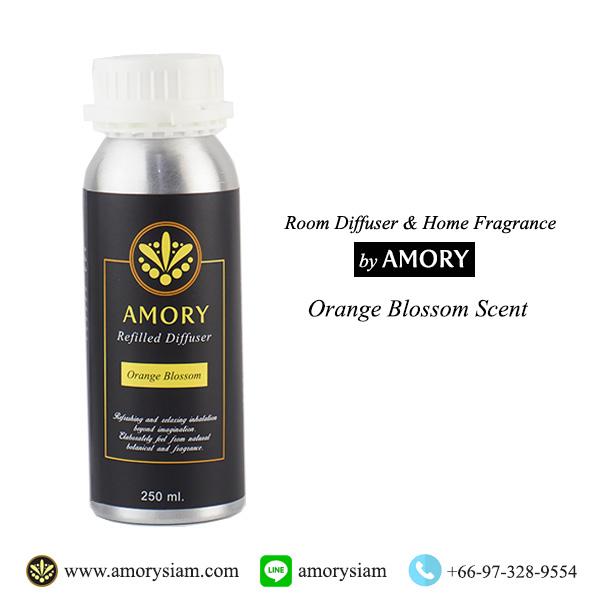 กลิ่น Orange Blossom 250 ml. Refilled diffuser รีฟิลน้ำหอมอโรม่าปรับอากาศ