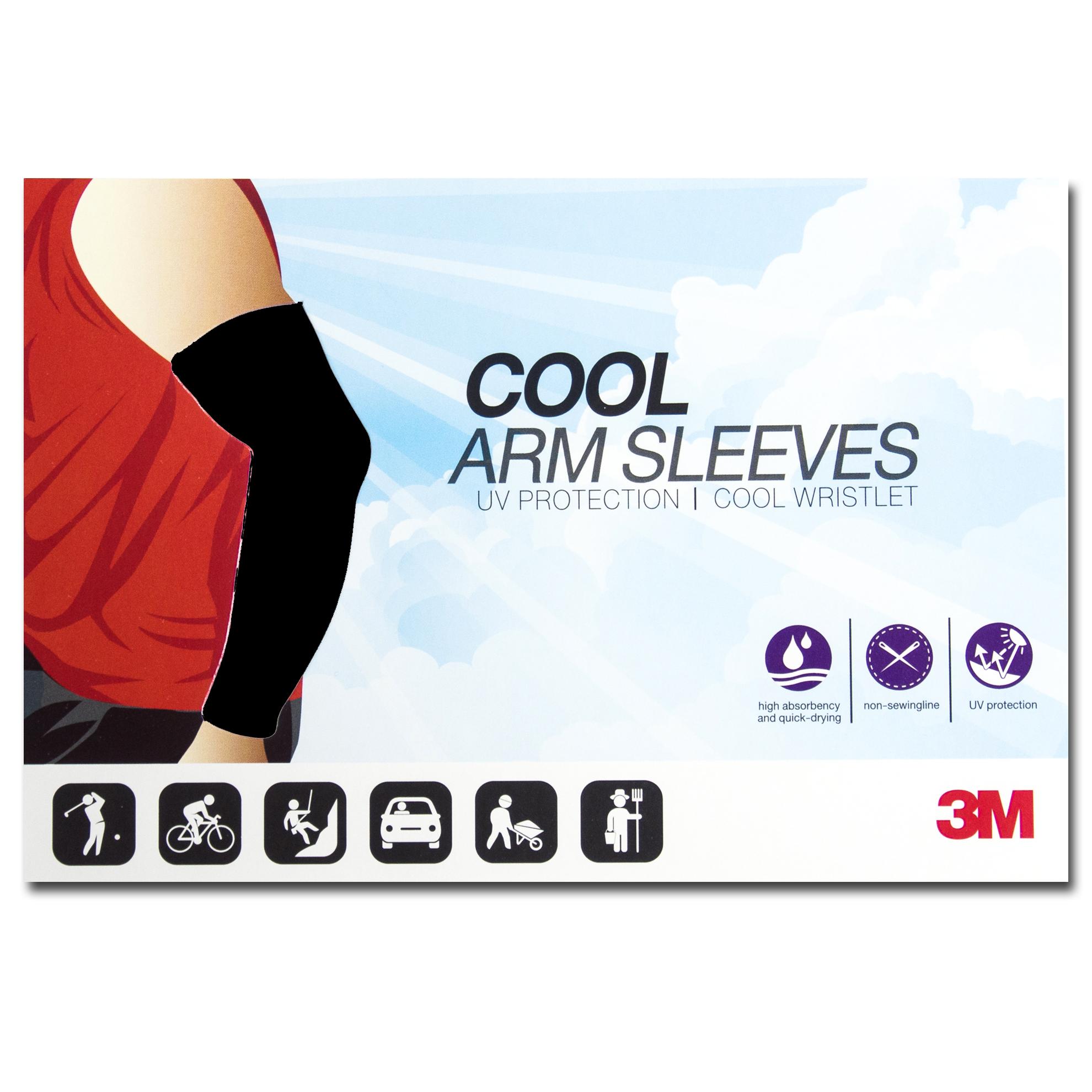 ปลอกแขนกันแดด 3M สีดำ ปลอกแขนกัน UV 99% 3M แท้ Made in Korea