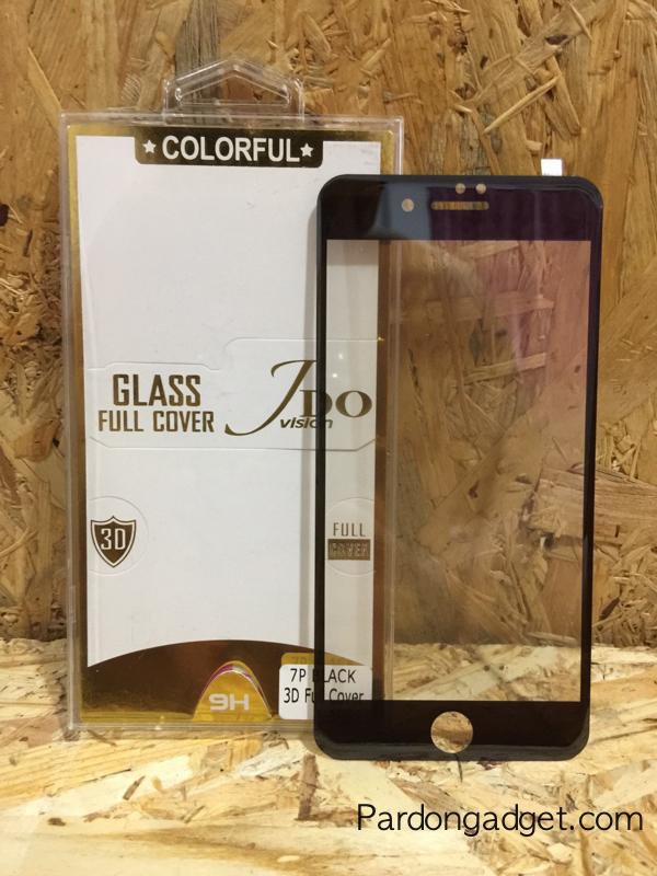 ฟิล์มกระจก Iphone 7 เต็มจอเงา สีดำ