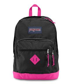 JanSport กระเป๋าเป้ รุ่น City Scout - NEW BLACK/ PINK