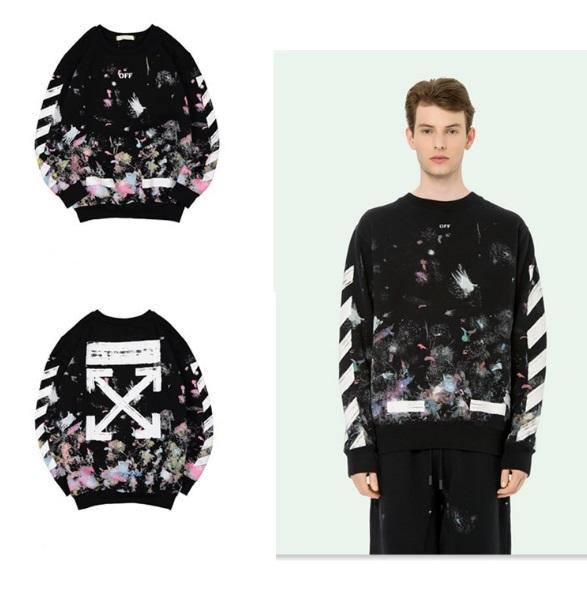 เสื้อ Off-White x Black Diagonal Arrows Galaxy Sweatshirt