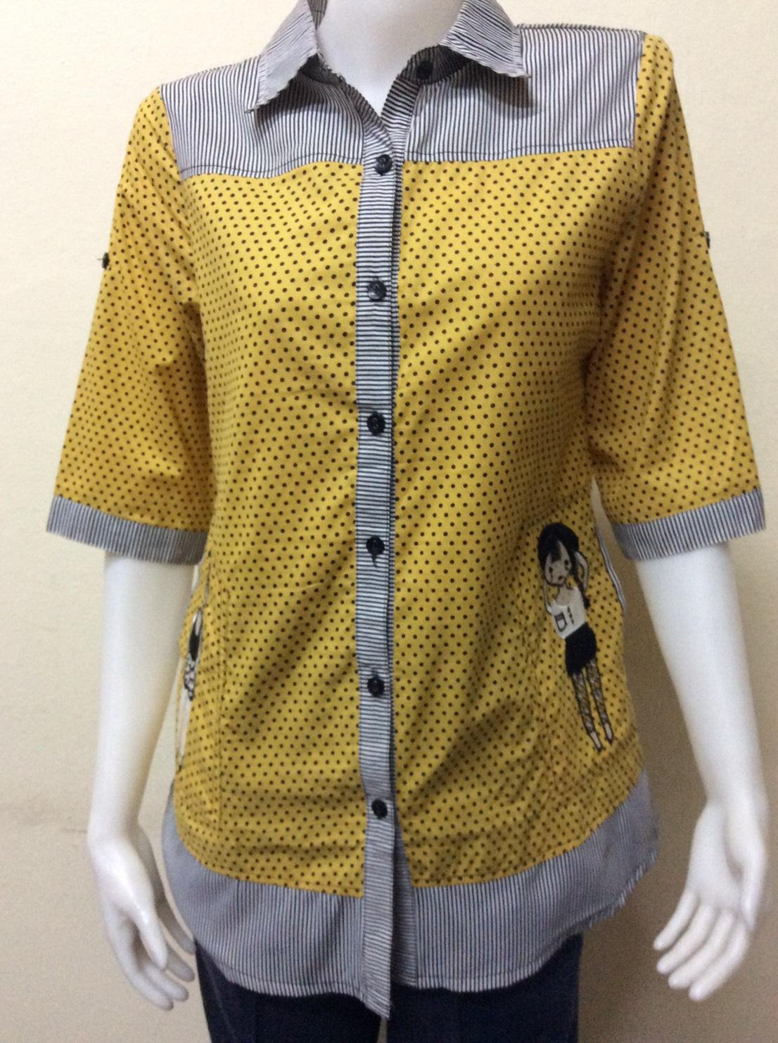 เสื้อปกเชิ้ต สีเหลือง BY T&L