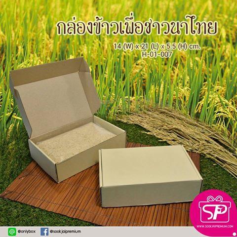 H-01-007 : กล่องลูกฟูกลอนเล็ก ขนาด 14.0 x 21.0 x 5.5 ซม.