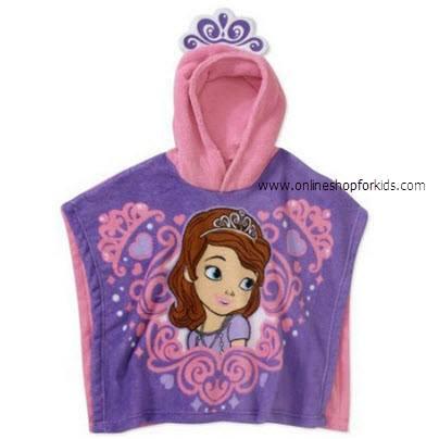 เสื้อคลุมอาบน้ำ/ว่ายน้ำ Girls Character Hooded Poncho Blanket, Sofia