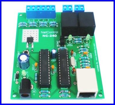 บอร์ดควบคุม บอร์ดควบคุมผ่านเน็ตเวิร์ค อุปกรณ์ควบคุมผ่านระบบเน็ตเวิร์ค Net Control Boards รุ่น NC-240