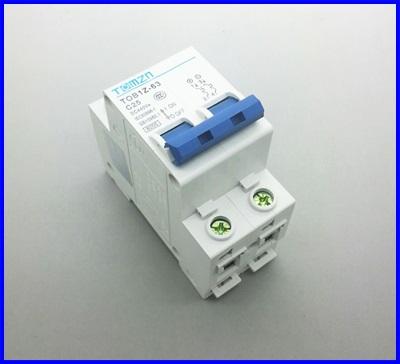 เซอร์กิตเบรกเกอร์ อุปกรณ์ป้องกันไฟฟ้าTOMZN 2P 25A DC 440V Circuit breaker ผ่านมาตราฐาน IEC60947, IEC60898 (เทียบเท่า IEC947.2