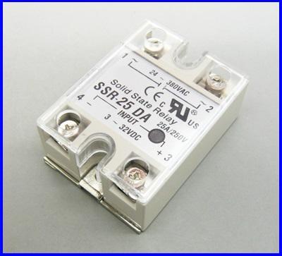 โซลิดสเตตรีเลย์ 25A solid state relay SSR-25DA 25A actually 3-32VDC TO 24-380VAC