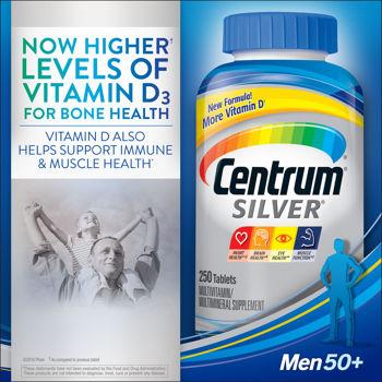 Centrum silver ultra men 50+ 285 Tablets วิตามินรวมสำหรับคุณผู้ชายอายุ 50 ปีขึ้นไป ขวดใหญ่สุดจากอเมริกาค่ะ