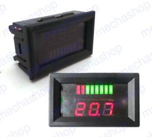 เครื่องวัดความจุแบตเตอรี่ หน้าจอแสดงผลวัดค่าความจุแบตเตอรี่น้ำ แบตเตอรี่รถยนต์ LED Indicator Battery Capacity Tester Voltmeter 12V Lead-acid