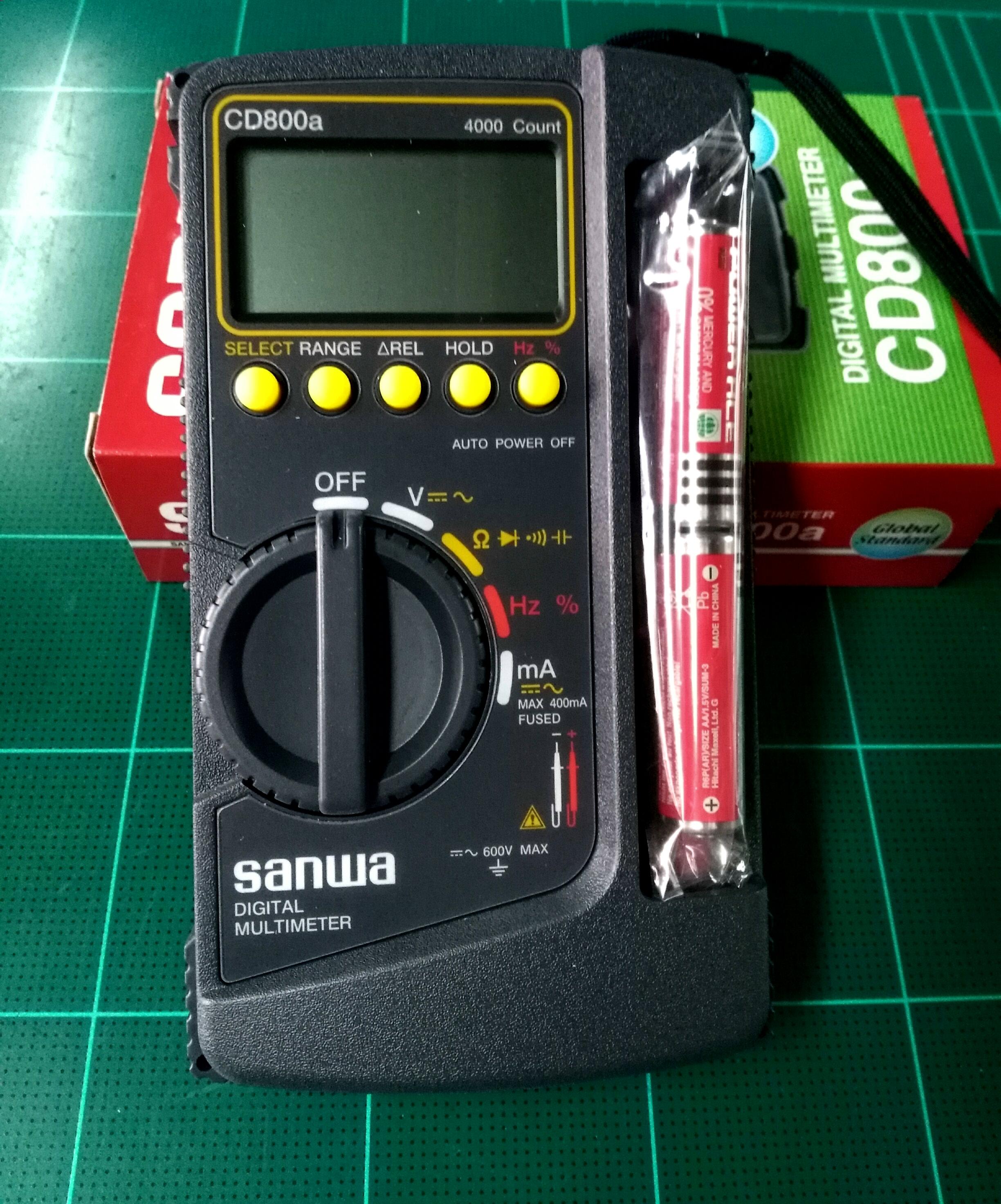 มัลติมิเตอร์ดิจิตอล SANWA รุ่น CD800a