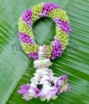 พวงมาลัยดอกไม้สด ขนาดพิเศษ รหัส 3506