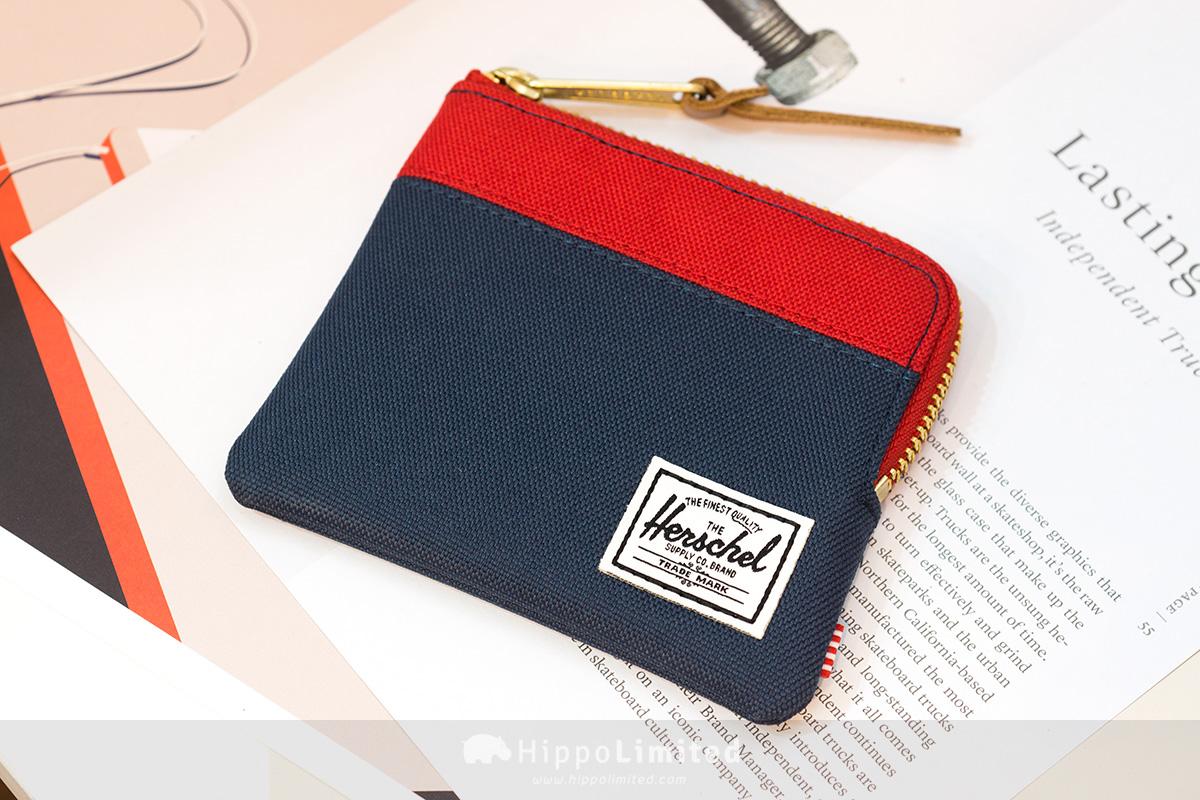 กระเป๋าสตางค์ใส่เหรียญ Herschel Johnny Wallet - Navy/Red ด้านหน้าเต็มใบ