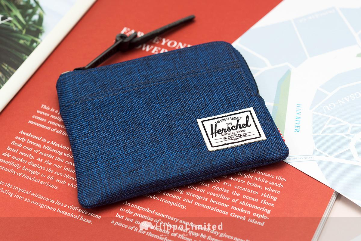 กระเป๋าเหรียญ Herschel Johnny Wallet - Eclipse Crosshatch สีน้ำเงินกรมท่าเข้มๆ ทั้งใบ