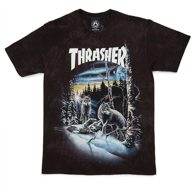Thrasher 13 Wolves T-Shirt - Black Tie-Dye