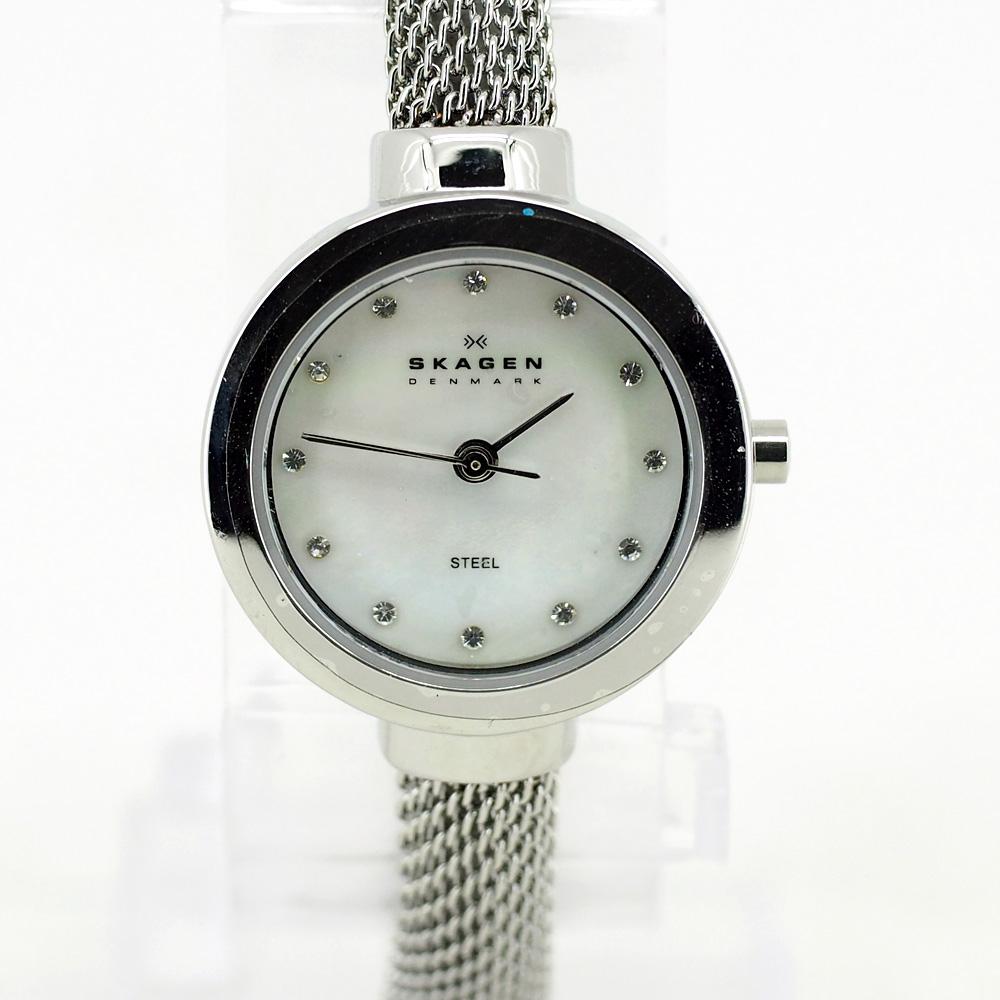 Skagen Women Watch Silver Bracelet (Swarovski Crystal)
