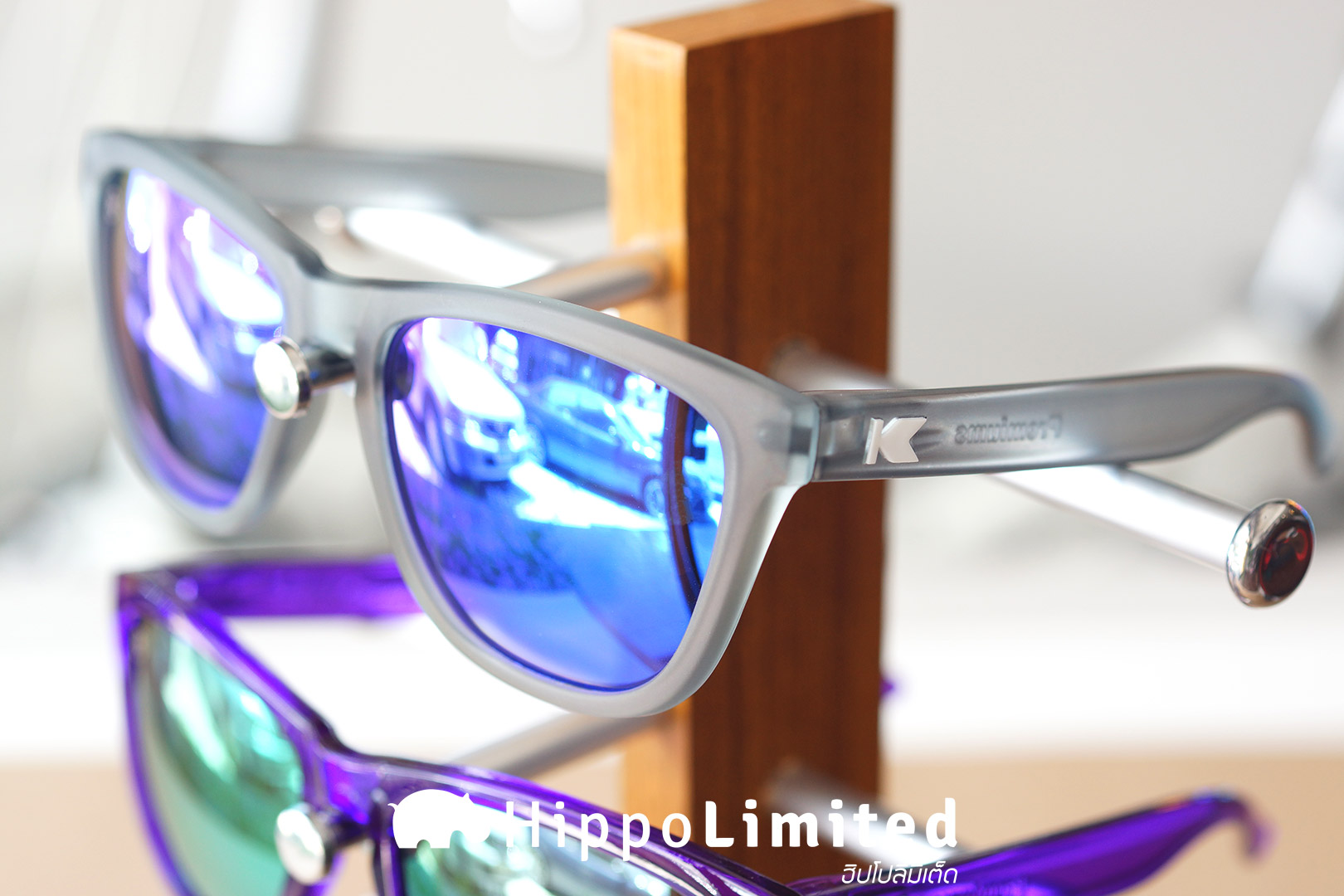 แว่น Knockaround Premiums Sunglasses - Frosted Grey / Moonshine