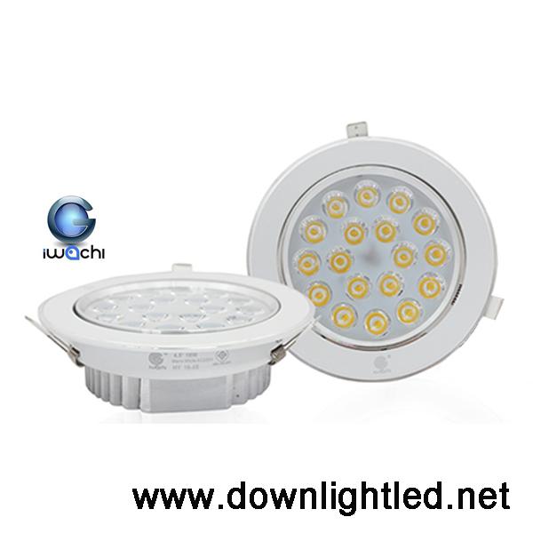 ดาวน์ไลท์ LED Iwachi 18w (แสงส้ม)