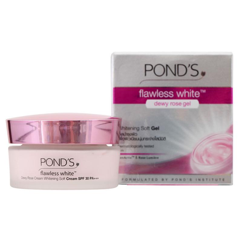 Ponds dewy rose gel flawless 50g.เนื้อครีมบางเบา ไม่เหนียวเหนอะหนะ