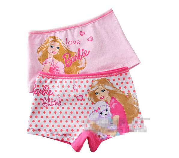 กางเกงในขาสั้น Barbie สีชมพู เนื้อผ้าดี 2 ชิ้น ไซส์ M (4-6 ปี) น่ารักค่ะ