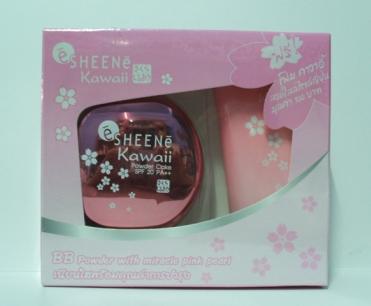 แป้ง Sheene Kawaii BB Powder Cake SPF 20 PA++ แถมโฟม คาวาอี้