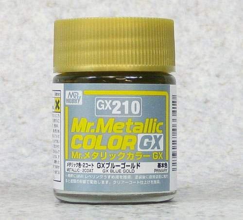 (เหลือ 1 ชิ้น รอเมล์ฉบับที่2 ยืนยัน ก่อนโอน) GX-210 Mr.metalic GX blue gold 18ml.