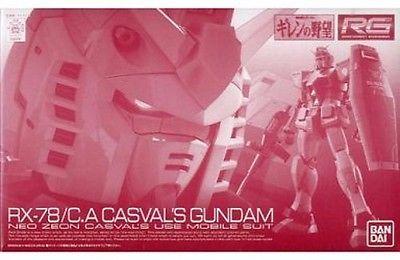 (มี1รอเมลฉบับที่2 ยืนยันก่อนโอน ) p-bandai rg1/144 rx-78/C.A casval's gundam