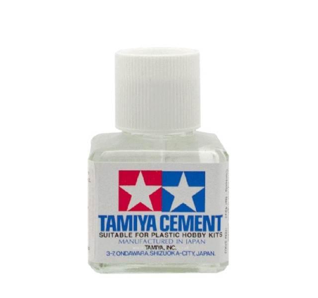 87003 tamiya cement ฝาขาว 40ml.