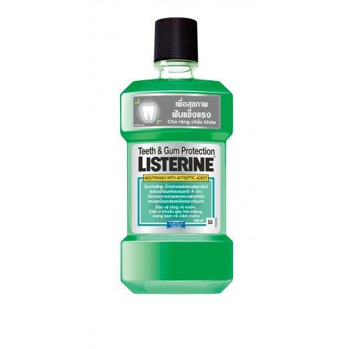 Listerine น้ำยาบ้วนป่าก ลีสเตอรีน ทีธแอนด์กัม 500ml