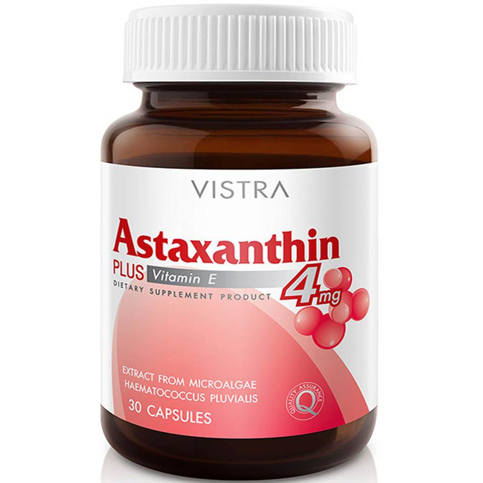 Vistra Astaxanthin Plus Vitamin E 4mg 30 เม็ด