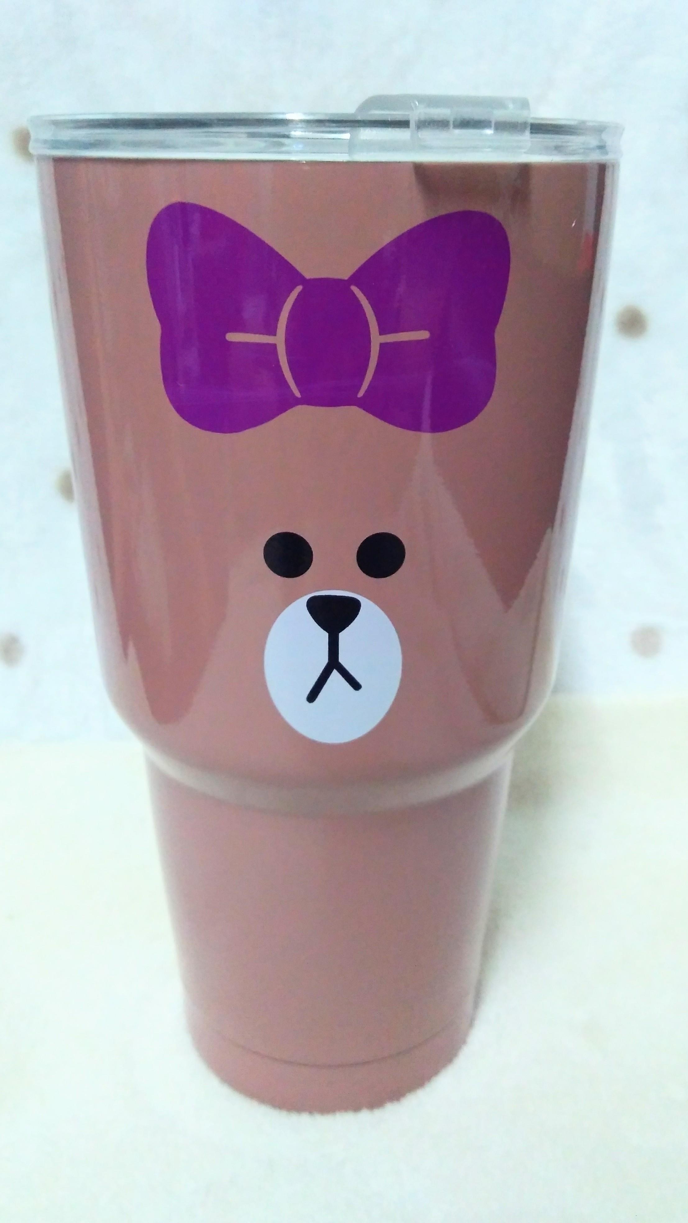 แก้ว yeti ลายหมีบราวน์