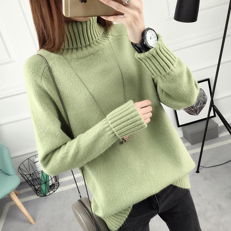 SUMIYA women sweater กันหนาว คุณภาพดี (สีเขียว)
