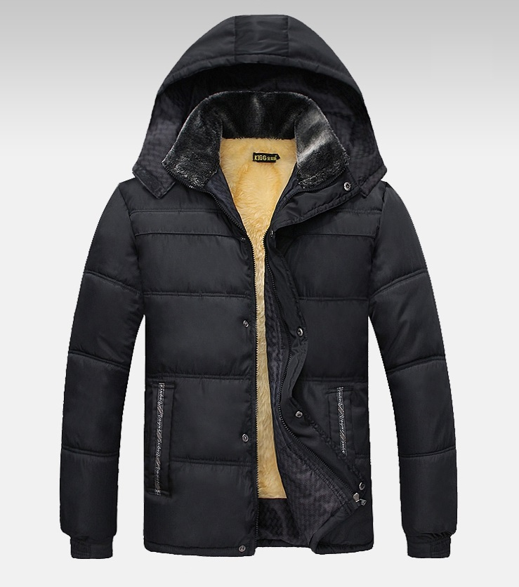 Velvet men's winter hood jacket