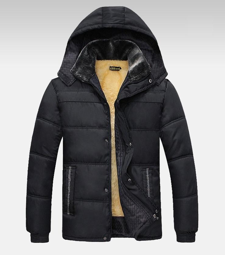 Velvet men's winter hood jacket