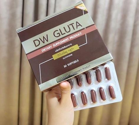 DW GLUTA ดีดับเบิ้ลยู กลูต้า กลูต้าหน้าเด็ก สูตรใหม่ ขาวไวกว่าสูตรเดิม ราคาปลีก 330 บาท / ราคาส่ง 264 บาท