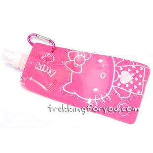 ถุงน้ำแฟชั่นแบบพกพา Hello Kitty : สีชมพู PA006