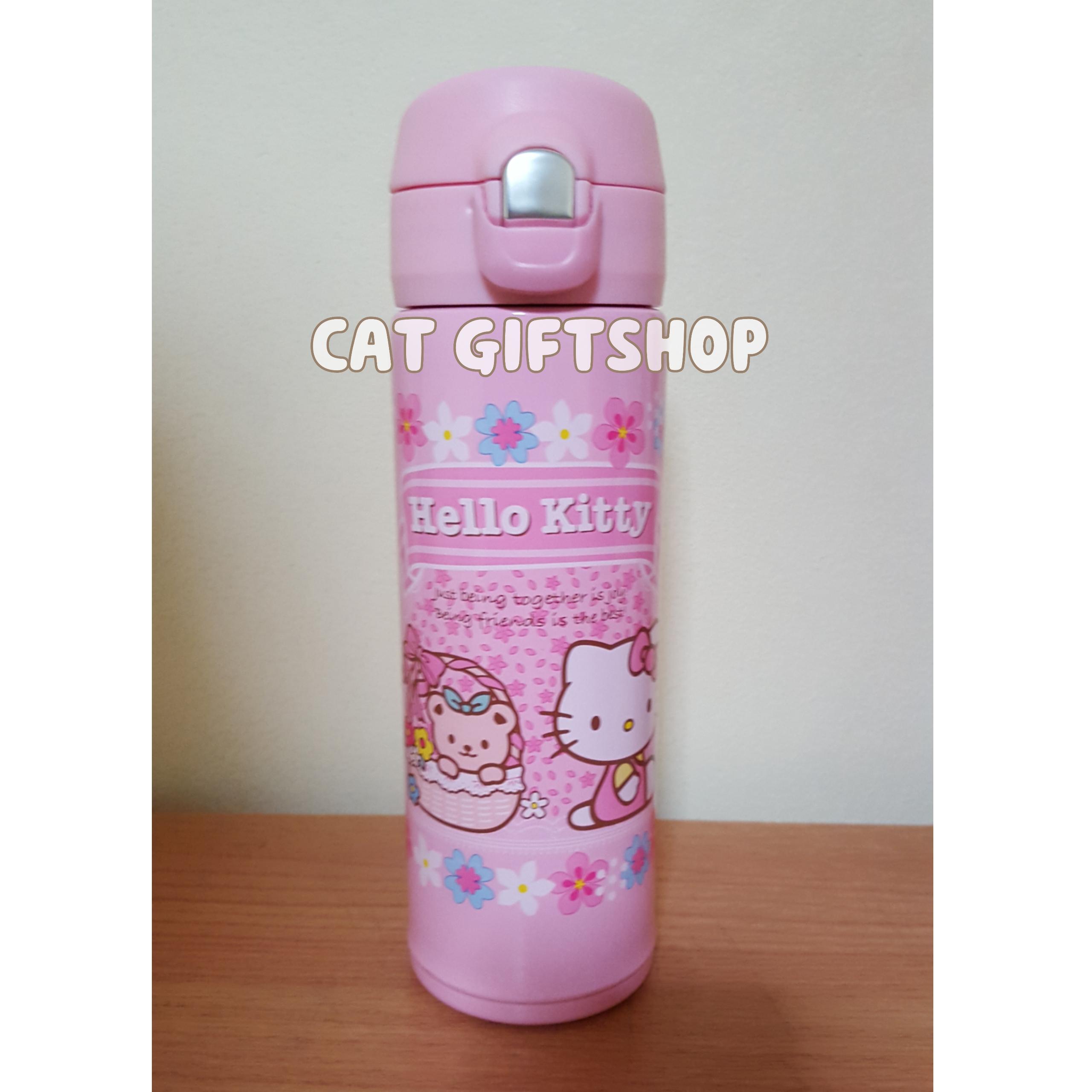 พร้อมส่ง :: กระบอกน้ำเก็บร้อน-เย็น Hello kitty สีชมพู 500 ml.