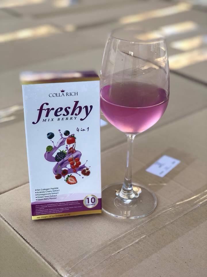 Colla Rich Freshy mix berry 4 in 1 คอลลาริช เฟรชชี่มิกซ์เบอร์รี่ ราคาปลีก 160 บาท / ราคาส่ง 128 บาท