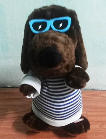 ตุ๊กตาน้องหมา สีน้ำตาล เต้นได้ มีเสียงเพลง หูขยับได้ (สินค้ามาใหม่)