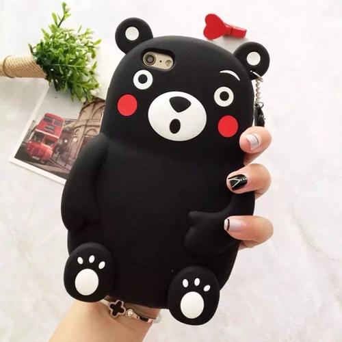 ** หมดค่ะ ** เคส iPhone 6+/6s plus ลาย Kumamon 3D สีดำ