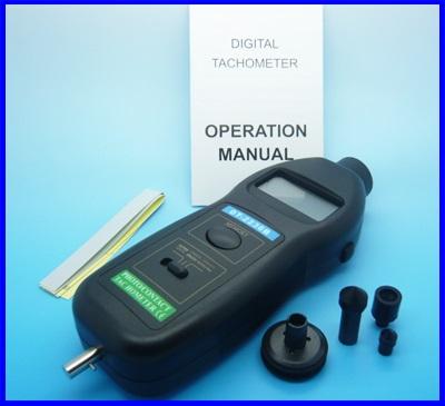 เครื่องวัดความเร็วรอบ เครื่องวัดรอบ มิเตอร์วัดความเร็วรอบ มิเตอร์วัดรอบ New DT2236B 2in1 Digital Laser Photo Contact Tachometer RPM (Made in China)